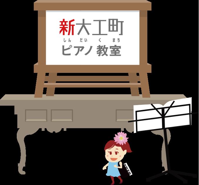 羅針塾ピアノ教室へ